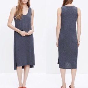 Madewell Gray Jersey Knit Midi Shift Dress